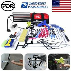 110pc PDR Push Rods Tools Paintless Dent Repair Whale Tail Hail Removal Kits