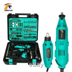 130W Dremel Style Variable Speed Electric Rotary Electric Mini Drill Grinder Kit