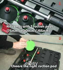 Air Pneumatic Dent Puller Auto Body Repair Suction Tool Kit for 3size Rubber Cup