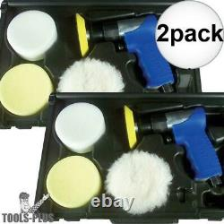 Astro Pneumatic Tool 3055 3 Mini Air Polishing Kit with Pads + Case 2x New
