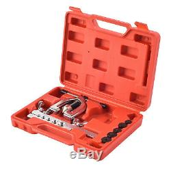 Auto Double Flaring Brake Line Tool Kit Car Truck with Mini Pipe Cutter New