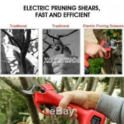 Branch Cutter Trimmer Electric Garden Pruning Shears Scissors Tools Kit 45mm