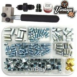 Classic Car Brake Pipe Fittings Male Female 3/8 7/16 UNF SAE Flaring Tool Kit