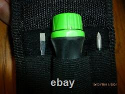 DISCONTINUED Snap on tools mini ratcheting screwdriver kit- pouch GREEN SGRMINI
