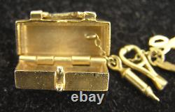 Designer Unsigned 14K First Aid/Surgeon Kit WithMini Tools Charm 6.3g