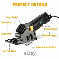 Electric Mini Circular Saw With Laser For Cut Wood Multi-functional Power Tool
