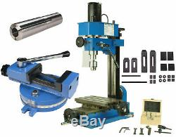 Erie Tools Mini Bench Top Mill with Collet 24 Piece Clamping Kit 55mm Mill Vise