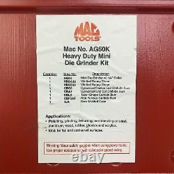 MAC Tools AG50K Heavy Duty Mini Die Grinder Kit 1/4 Collet With Attachments