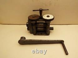 Mini Mill (combination), Jeweller's Wire and Sheet Rolling Mill