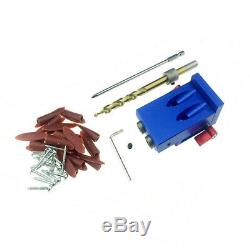 Mini Style Pocket Hole Jig Kit System Woodworking Joinery Step Drill Bit Tools