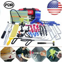 PDR Push Rods Tools Kit Car Paintless Dent Removal Repair Puller Lifter Hammer