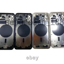 Replace For iPhone 12/12 Mini Metal Frame Back Chassis Housing Rear Glass Cover