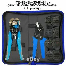 SN-2549 0.08-1mm2 Crimping Plier Kit 8 Jaw For Tube Plug Spring Insulation Tools